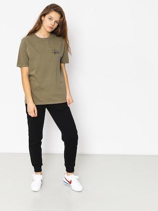 T-shirt Stussy Basic Logo Pig Dyed Wmn (army)