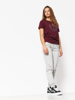 T-shirt Converse Reptile Chuck Patch Wmn (dark burgundy)
