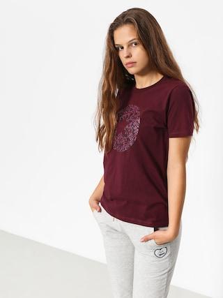 T-shirt Converse Reptile Chuck Patch Wmn (dark burgundy)