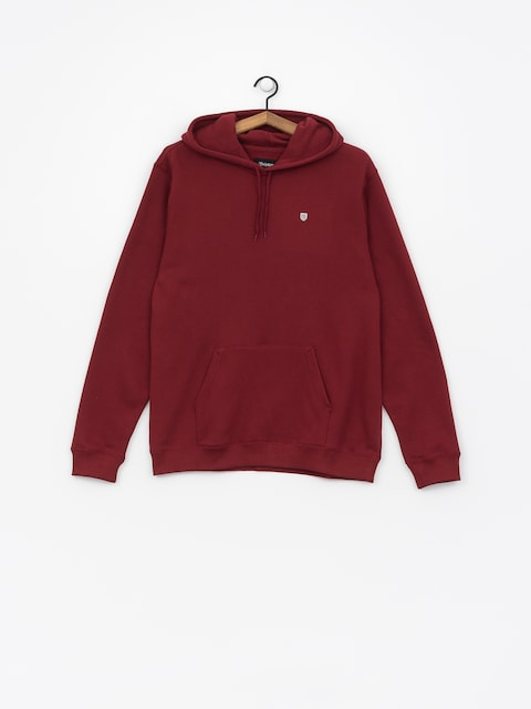 Bluza z kapturem Brixton B Shield Intl HD (burgundy)