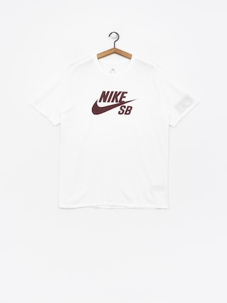 T-shirt Nike SB Sb Logo (white/white/burgundy crush)