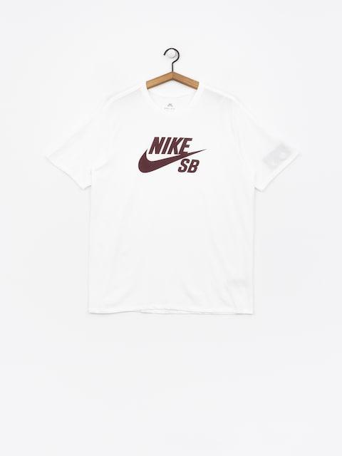 T-shirt Nike SB Sb Logo (white/white/burgundy crush)