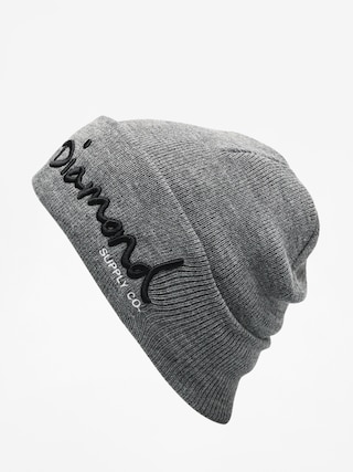 Czapka zimowa Diamond Supply Co. Og Script Beanie (gunmetal heather)