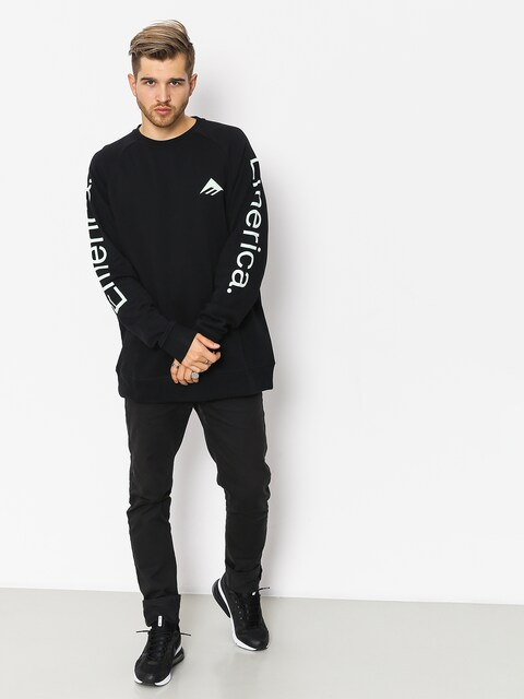 Bluza z kapturem Emerica Tri Pure Crewneck (black)