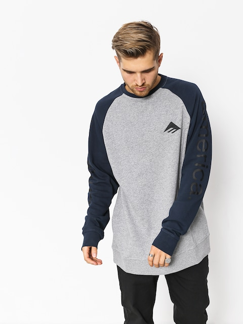 Bluza z kapturem Emerica Tri Pure Crewneck (grey/navy)