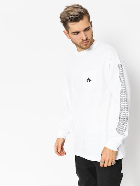 Longsleeve Emerica Team Pocket (white)