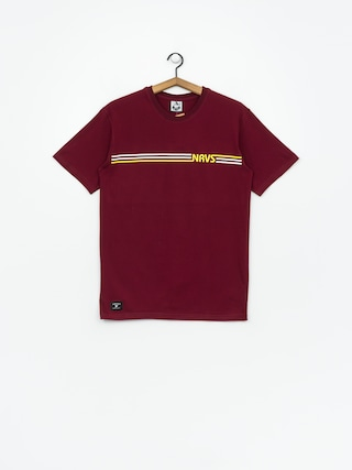 T-shirt Nervous Stripes (maroon)