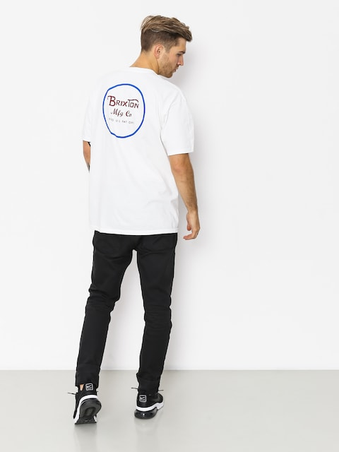 T-shirt Brixton Wheeler II Stnd (white/blue/red)