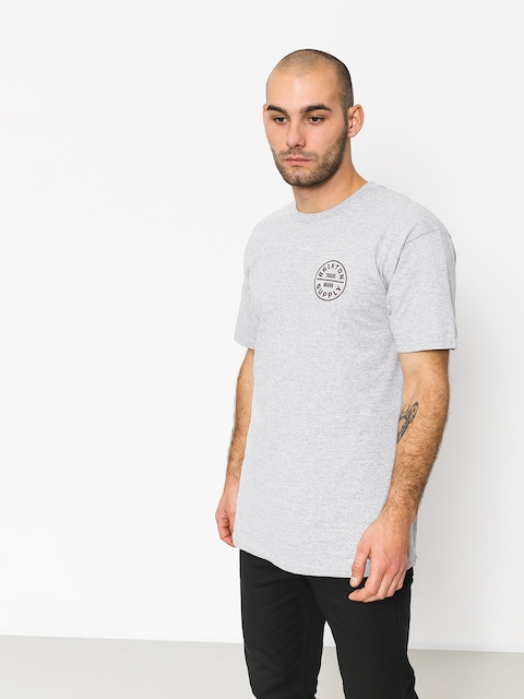 T-shirt Brixton Oath Stt (heather grey/burgundy)