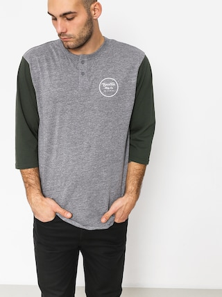 T-shirt Brixton Wheeler 3/4 Slv Hnly (heather grey/pine)