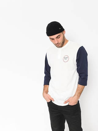 T-shirt Brixton Wheeler 3/4 Slv Hnly (off white/navy)