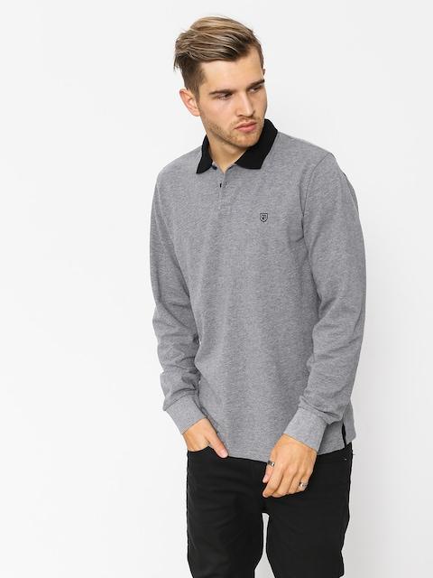 Longsleeve Brixton Wingate Polo (heather grey/black)