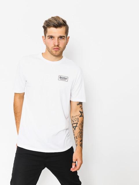 T-shirt Brixton Palmer Prem (white/navy)