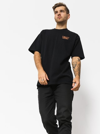 T-shirt Brixton Stith Stnd (black/orange)