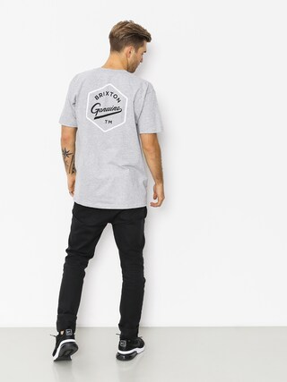 T-shirt Brixton Yates Stt (heather grey)