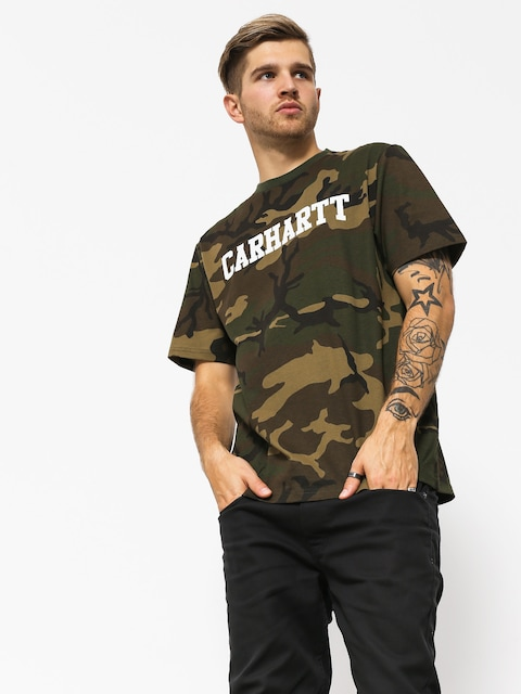 T-shirt Carhartt WIP College (camo laurel/white)
