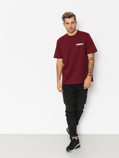 T-shirt Carhartt WIP College Script (mulberry/white)