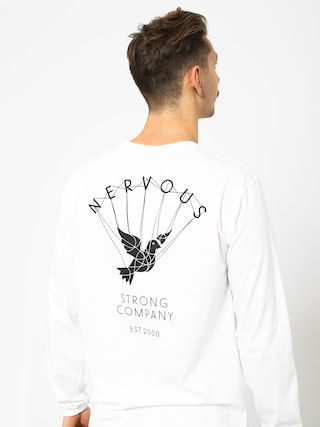 Longsleeve Nervous Web (white)