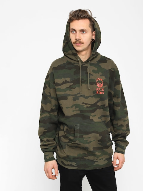 Bluza z kapturem Spitfire Rocking HD (camo/warm red)