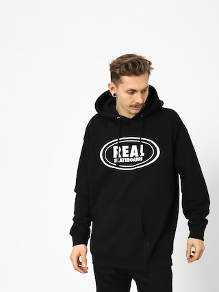 Bluza z kapturem Real Og Oval HD (black/white)
