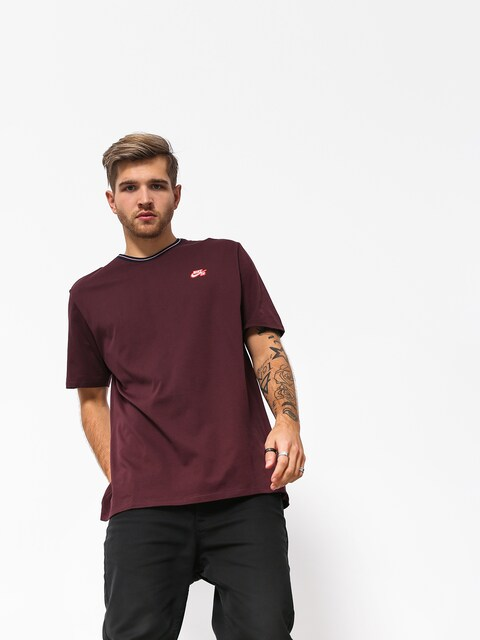 T-shirt Nike SB Sb Striped Rib (burgundy crush/white/black)
