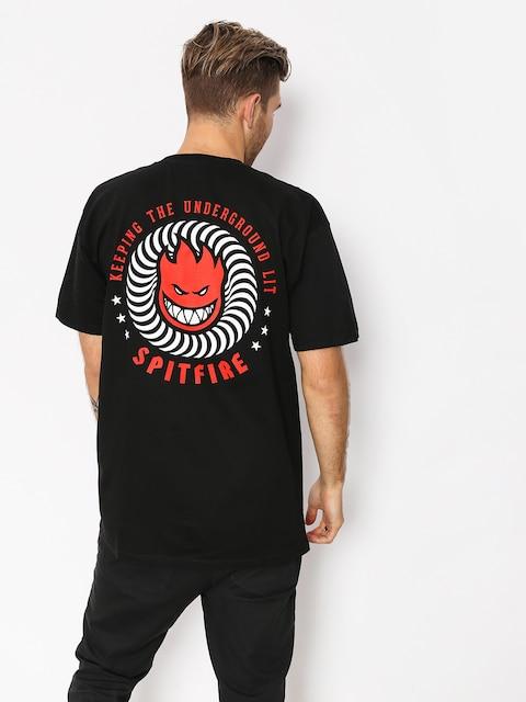 T-shirt Spitfire Ktul (black/red/white)