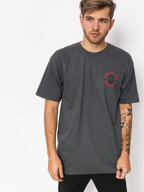 T-shirt Spitfire Classic Bghd (charcoal/red)