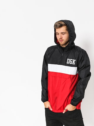 Kurtka DGK Blocked Windbreaker (black/white/red)
