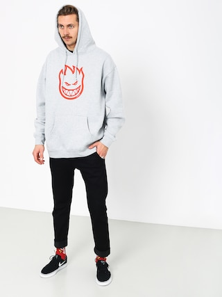Bluza z kapturem Spitfire Big Head HD (grey heather/red)