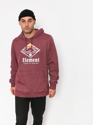 Bluza z kapturem Element Layer HD (ruby wine ht)