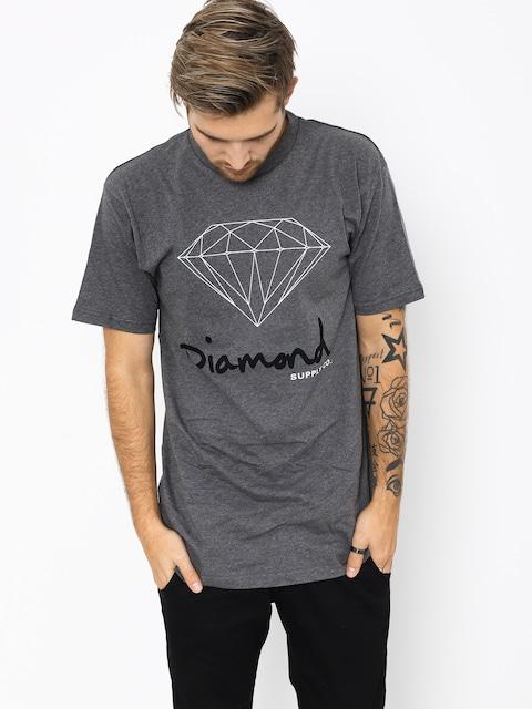 T-shirt Diamond Supply Co. Og Sign