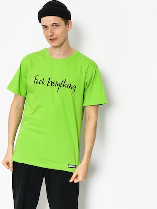 T-shirt Diamante Wear Fuck Everything (green)