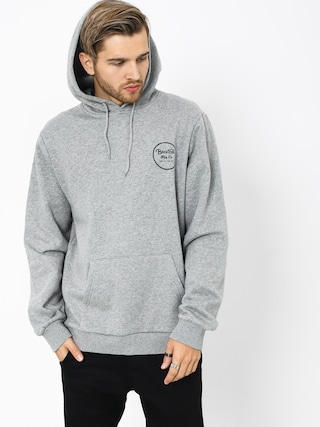 Bluza z kapturem Brixton Wheeler Intl HD (heather grey/black)