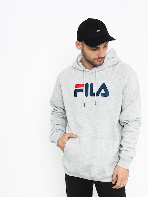 Bluza z kapturem Fila Pure HD (light grey mel bros)