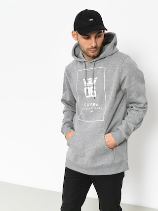 Bluza z kapturem Supra Og Intl HD (grey heather/white)