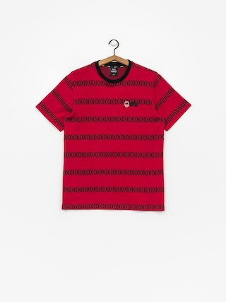 T-shirt HUF Spitfire Striped Knit (red)