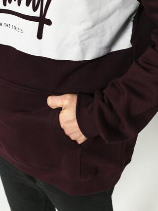 Bluza z kapturem Iriedaily Tagg HD (aubergine)