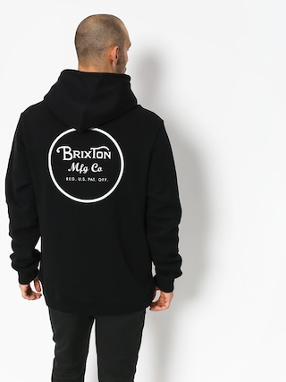 Bluza z kapturem Brixton Wheeler Intl HD (black/white)