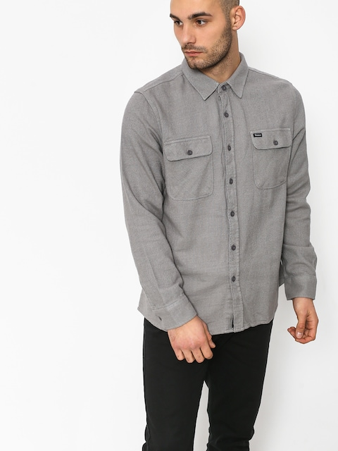 Koszula Brixton Bowery Solid Ls (grey)