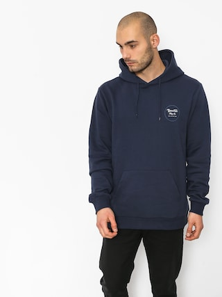Bluza z kapturem Brixton Wheeler Intl HD (washed navy)