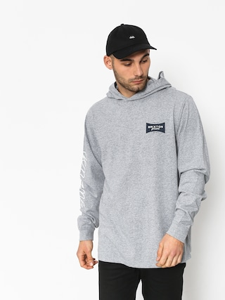 Bluza z kapturem Brixton Ramsey Sv II HD (heather grey)