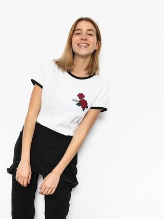 T-shirt Volcom Keep Goin Ringer Wmn (wht)