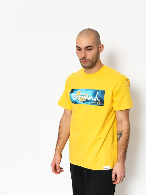 T-shirt Diamond Supply Co. Citrine Box Logo (yellow)