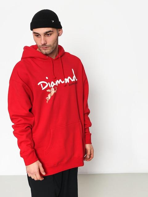 Bluza z kapturem Diamond Supply Co. Trinity HD (red)