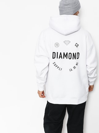 Bluza z kapturem Diamond Supply Co. Dialed Skate HD (white)
