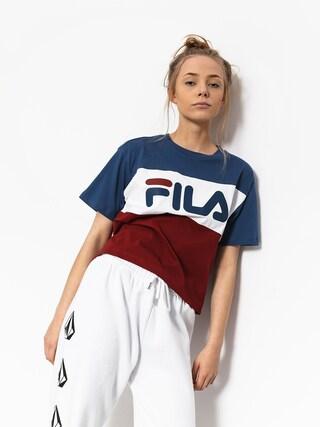 T-shirt Fila Allison Wmn (merlot/blue white)