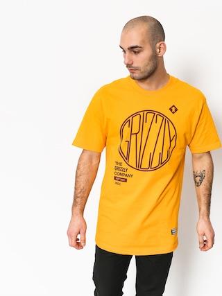T-shirt Grizzly Griptape Locomotive (gold)