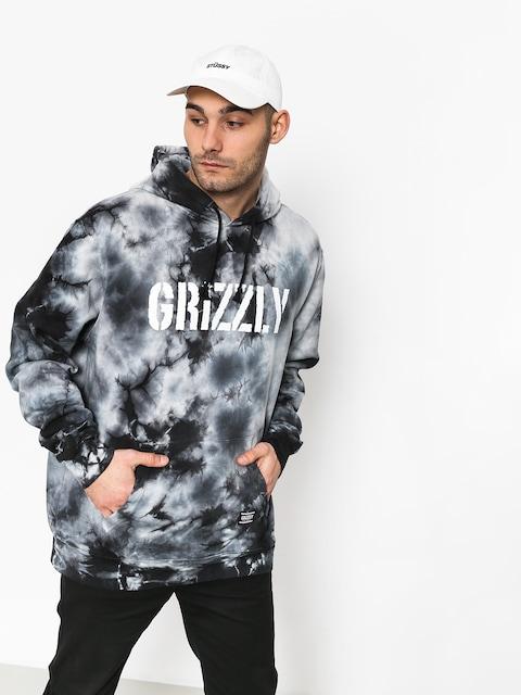 Bluza z kapturem Grizzly Griptape Storm Front Tie-Dye HD (black)