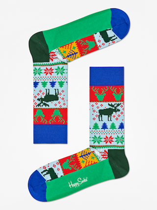 Skarpetki Happy Socks Fair  Isle (blue/green/red/white)
