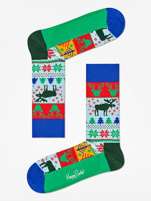 Skarpetki Happy Socks Fair  Isle (blue/green/red/white)